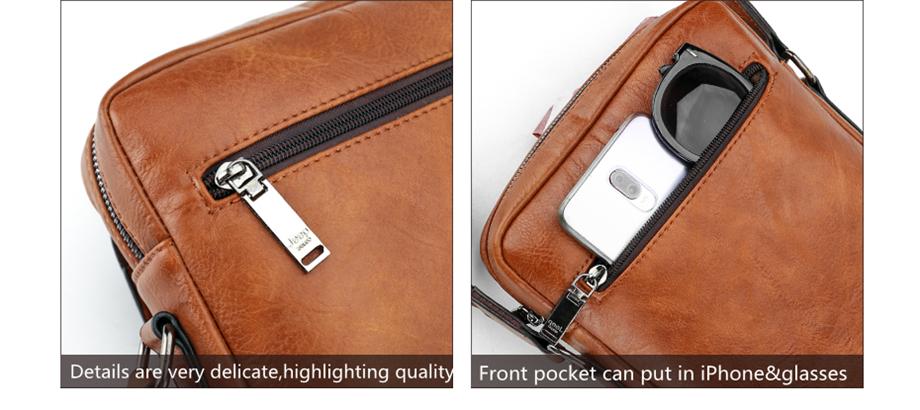 JEEP BULUO Luxury Brand Men Messenger Bags Crossbody Business Casual Handbag Male Spliter Leather Shoulder Bag Large Capacity 20