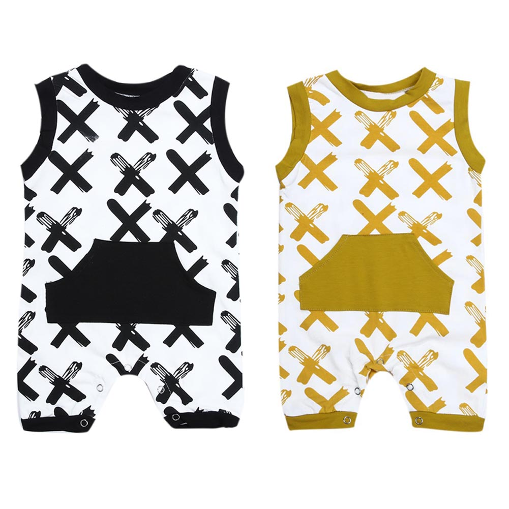 Newborn Infant Baby Boy Rompers Tiny Cotton Romper  XX Printed Sleeveless Romper Jumpsuit Outfits Clothing Jumpsuit 2017 denim romper newborn baby boy girl summer sleeveless pocket clothes toddler kids jumpsuit sunsuit children clothing outfits