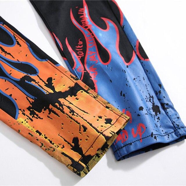 Sokotoo Men's fashion letters flame 5