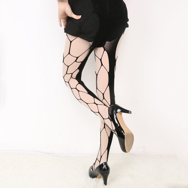 494b8871e4e 1PC Sexy Big Fishnet Stockings Black Color Sultry Hexagon Net Pantyhose  Tight