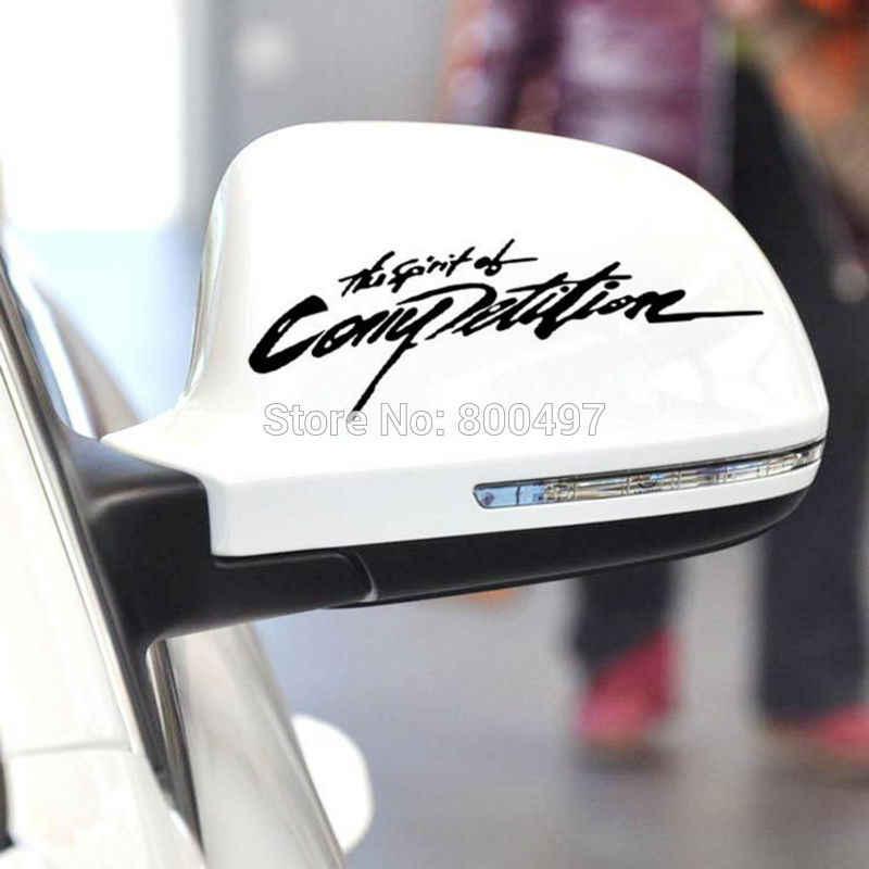 Nouveau Style de voiture Style créatif l'esprit de la compétition Sport Style voiture autocollants décoratifs miroir arrière vinyle décalque