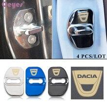 Ceyes автомобильный Стайлинг Авто Дверной замок защитный чехол Пряжка Чехол для Dacia Sandero Fortwo Stepway для Renault Megane аксессуары