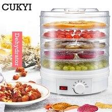 CUKYI осушитель для пищевых продуктов, фруктов, овощей, трав, мяса, сушильная машина, закуски, сушилка с 5 лотками, штепсельная вилка ЕС/Великобритании/США, 110 В/220 В