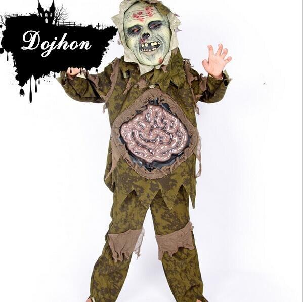 miglior grossista acquisto speciale Guantity limitata US $24.39 15% di SCONTO|3 pz/set Bambini Ragazzi Halloween Zombie Costumi  per bambini Zombie Spaventoso Intestino Horror Palude del Partito di  Cosplay ...