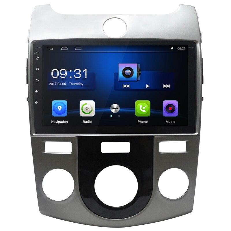 9 дюймов Quad Core HD Android 6.0 автомобилей Видео Стерео для Kia Forte Cerato 2008-2012 dvd-плеер автомобиля С 1 г Оперативная память Радио головное устройство