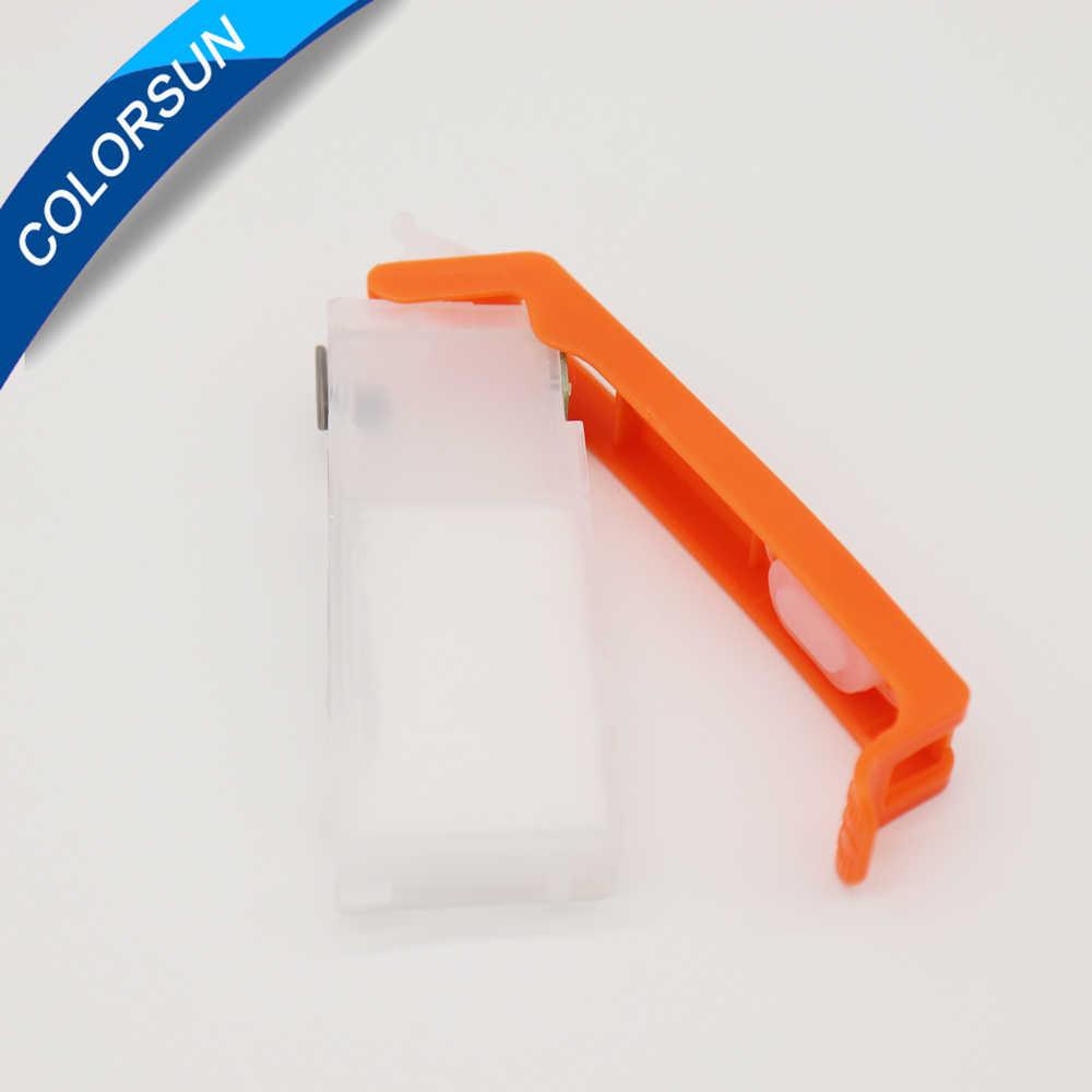 Colorsun 5 Warna PGI-470 CLI-471 Tabung Tinta Isi Ulang untuk Canon PIXMA MG6840 MG5740 TS5040 TS6040 Cartridge Printer