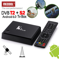 MECOOL Android 6.0 S905D 1G RAM DTV DVB-T2 Terrestre DVB-S2 Ricevitore Satellitare Combo Sintonizzatore TV Media Player Biss Ccamd Newcam