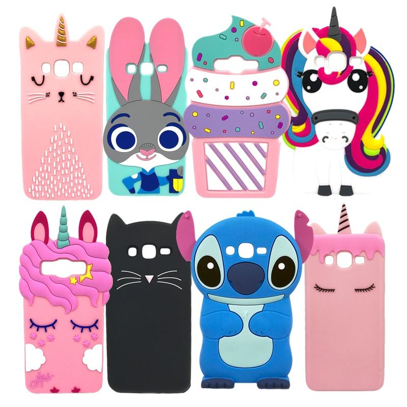 "Cover Case For Samsung Galaxy J5 2015 J500 J500H J500F Cover Silicone 3D Cartoon Phone Bag Case For Samsung J5 2015 J500 5.0"""