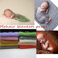 New Arrival Mohair baby photography props Newborn Photography Wraps Handmade Flower Headband Photo props Blankets Accessories