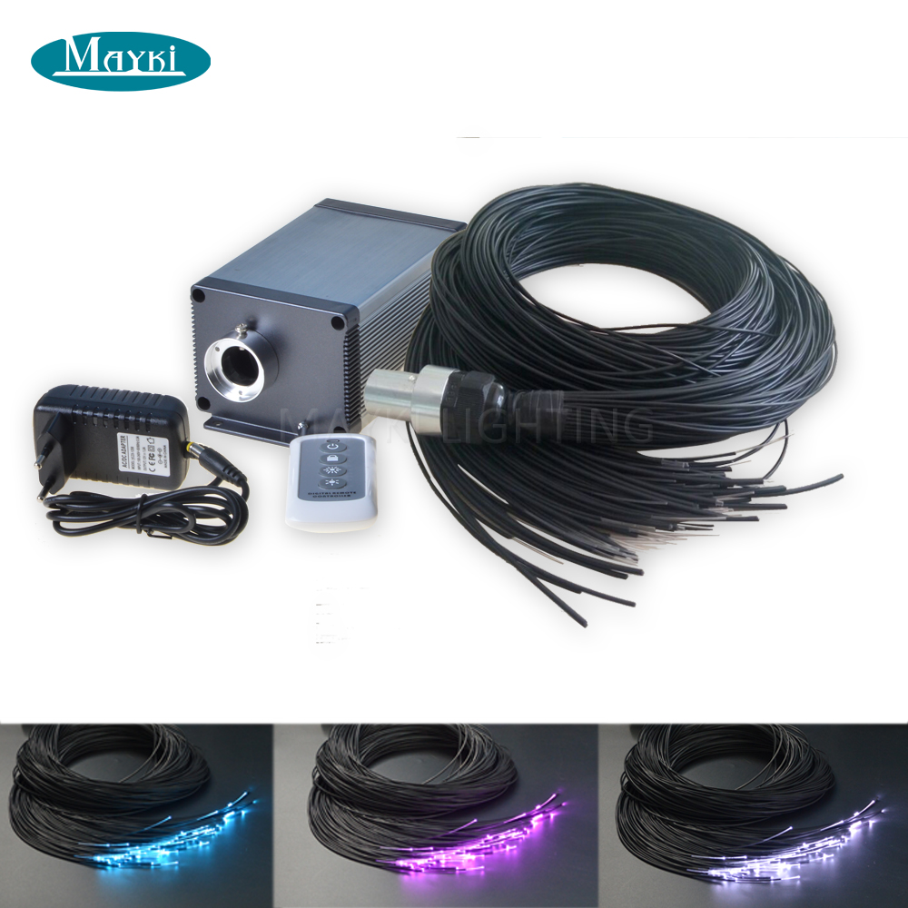 Maykit Promotion Optical Fibre Optic Sauna Light Kit For Steam Room Using With 1.5mm Thickness End Emitting Cable maykit swimming pool using fiber optic light with 80w led ip43 end emitted fibre optic tail for 20 sqm