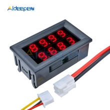 0.28 Inch Digitale DC Voltmeter Amperemeter 4 Bit 5 Draden DC 200V 10A Volt Voltage Current Meter Voeding rode LED Dual Display(China)