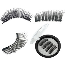 2 Pairs/set Black Natural False Eyelashes Thick Magnetic Lashes With Magnets Extention Eyelash 3D/6D long Magnet