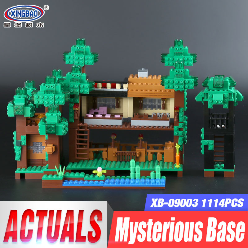 Xingbao 09003 1114Pcs Creative MOC Series The Mysteries of Base Set Children Educational Building Blocks Bricks Toys Model Gifts lizzie mcguire mysteries case of the missing she geek book 3 junior novel lizzie mcguire mysteries