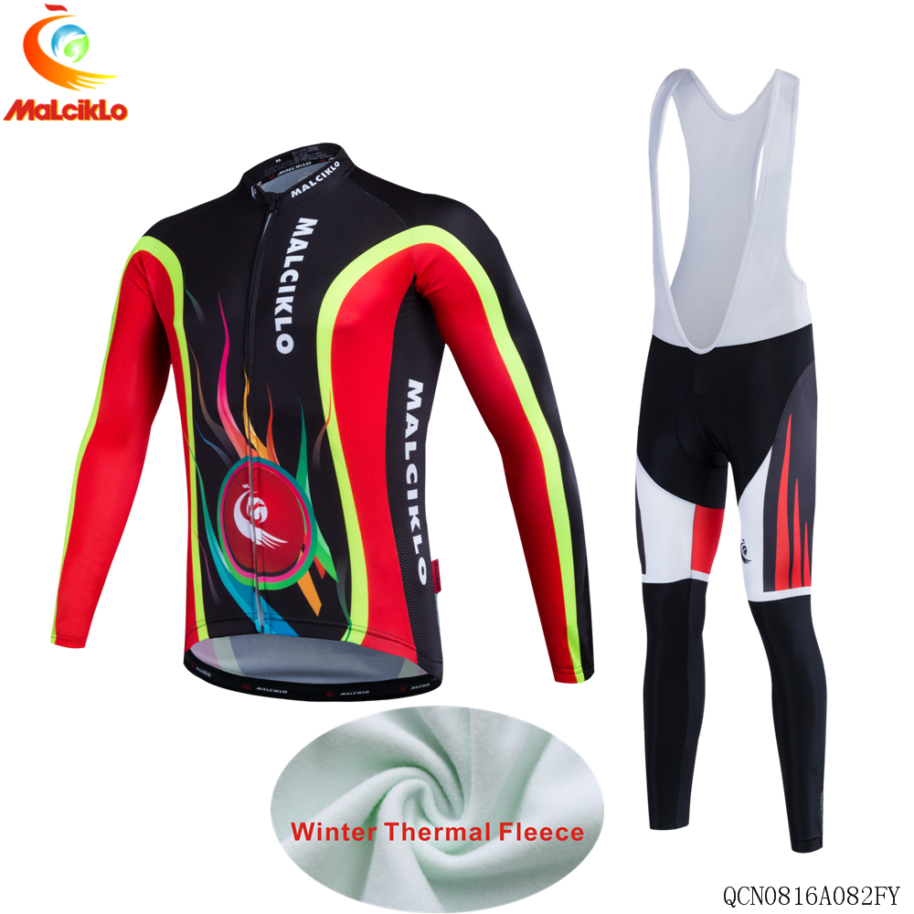 Men Fleeces Cycling Jersey Maillot Mountain Bike Clothing Kit Bicycle Clothes Cycle Outfits Ride Uniforms Sports Wear women s long cycling clothing mountain bike kit reflective cycle jersey
