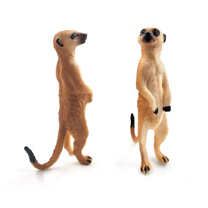 Image 3 - Simulation Cute Small Meerkat animal model plastic figure home decor figurine decoration accessories modern Gift For Kids toys