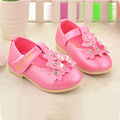 Fashion Korean Flower Princess Baby Shoes Menina Chaussure Fille Girl Sandals Leather Kids Toddler Girls Shoes TX126