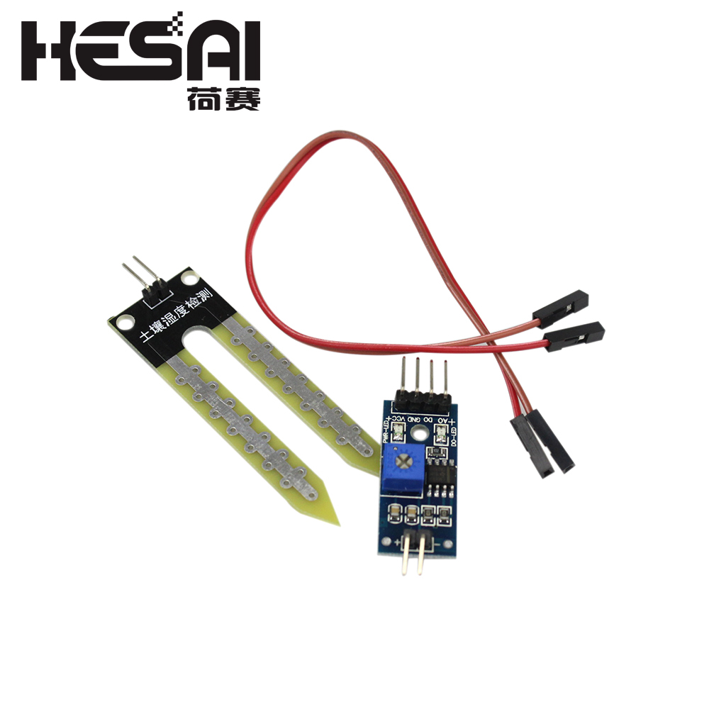 Capacitive Soil Humidity Hygrometer Moisture Detection Sensor Module Wire Kit