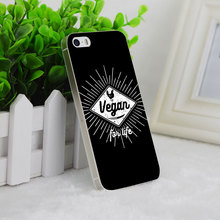 VEGAN FOR LIFE phone cover for iPhone 4 4S 5 5S SE 5C 6 6S 6Plus 6s Plus