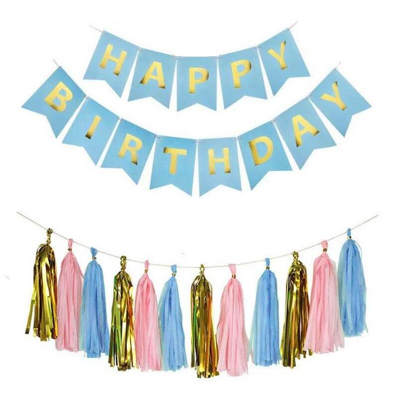 8Season Black Gold Confetti balloon 1set 12inch Happy Birthday Banner Congratulation Ballons Anniversaire Baby Party Decoration in Ballons Accessories from Home Garden