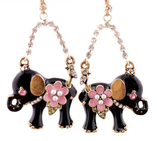 BJ  Fashion Earrings/Fashion jewelry/2011 new Arrival/Lovely elephant/#NR021