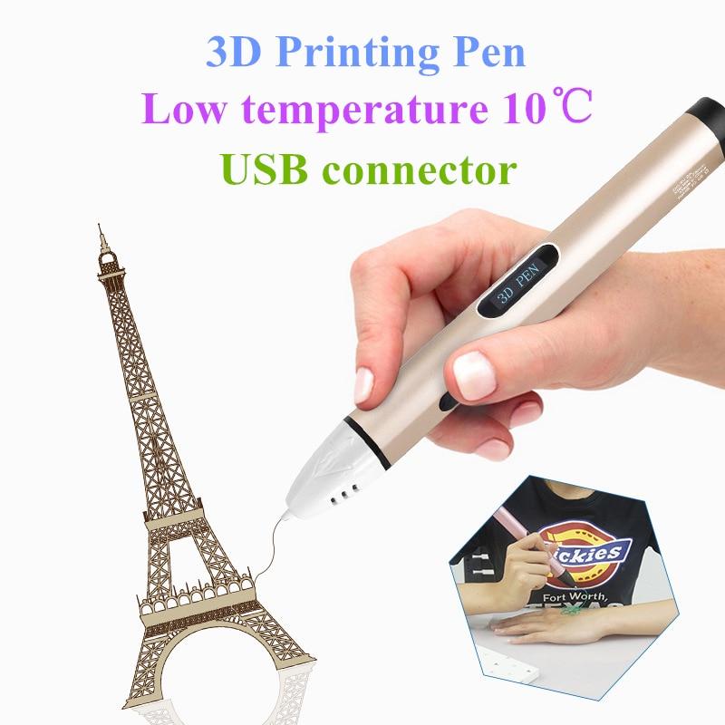 ФОТО Graffiti 3D USB DIY Low Temperature Printing Pen Hand-painted Fourth Generation Creative Scrawl Toys Stereo Graffito GH385