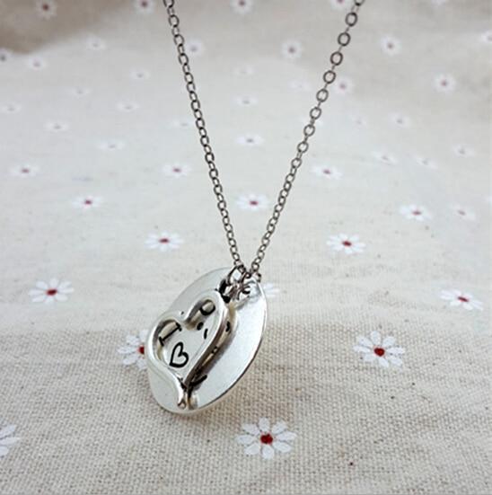 Fashion round love pendant necklace with letter ps i love you for fashion round love pendant necklace with letter ps i love you for women love gifts aloadofball Choice Image