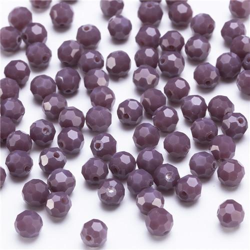 3, 4, 6, 8 мм разноцветные Круглые Стеклянные бусины для изготовления ювелирных изделий, аксессуары для рукоделия, Круглые граненые разделительные бусины, Z105 - Цвет: Z136