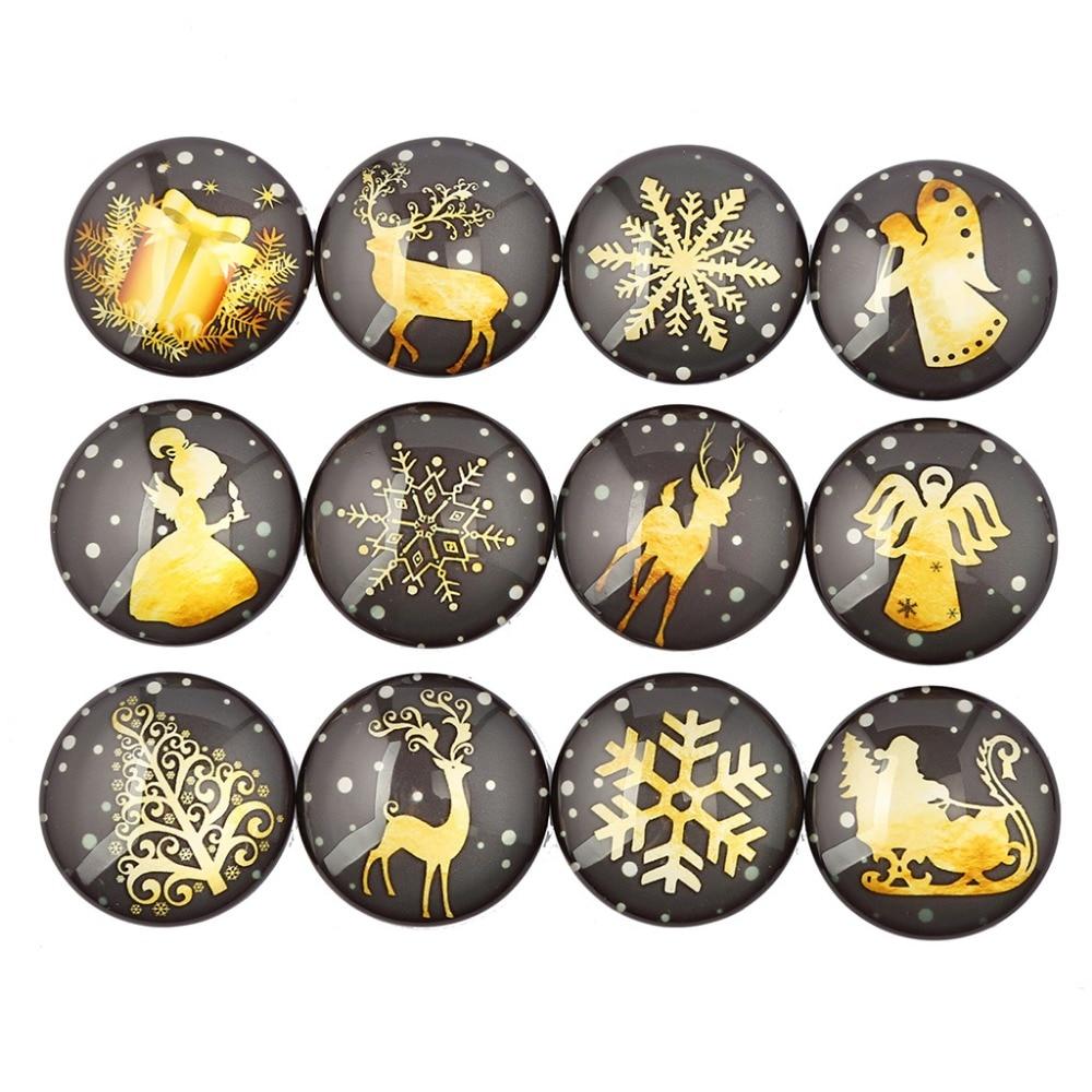 reidgaller mix christmas tree snowflake deer noel photo round glass cabochon 12mm 18mm 20mm 25mm 30mm diy jewerly findings недорго, оригинальная цена