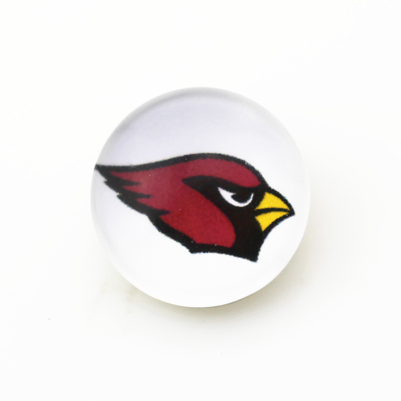 10pcs Arizona Cardinals Snap buttons Glass 18mm Football Sports snap buttons Diy Snaps Jewelry Bracelet&bangles charms