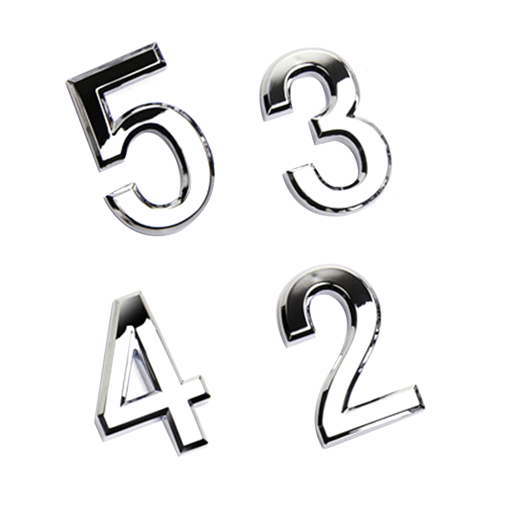 1 PCS Numeral Porta Placa Sinal Da Casa Chapeamento Portão 0 para 9 Número Da Etiqueta Etiqueta Etiqueta Porta Do Hotel Casa de Plástico