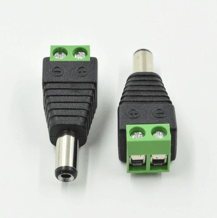 10 pack 2.5mm x 5.5mm female DC power plug connectors for CCTV security camera
