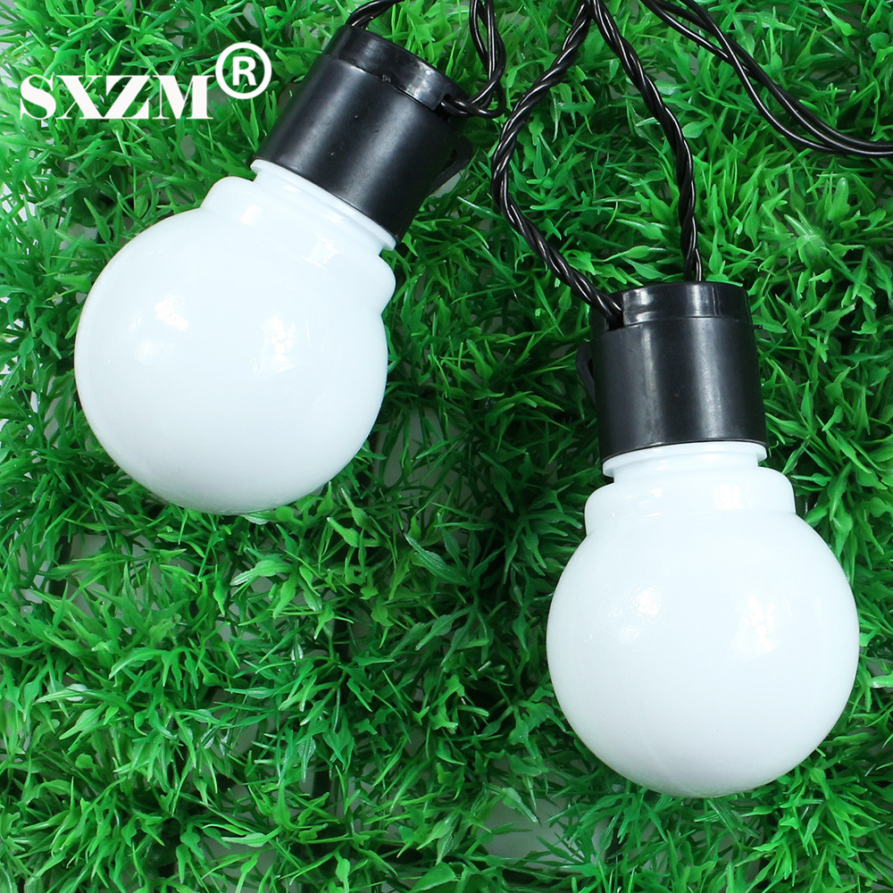 SXZM 10M 38leds led cordes 5CM super grande boule AC110V 220V en - Éclairage festif - Photo 3