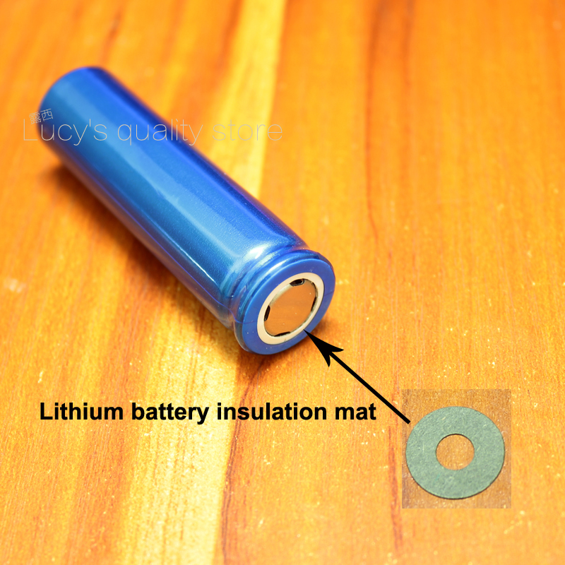 Купить с кэшбэком 100pcs/lot 18650 lithium battery anode hollow insulation pad 18650 battery accessories pointed insulation pad 17*6.5MM