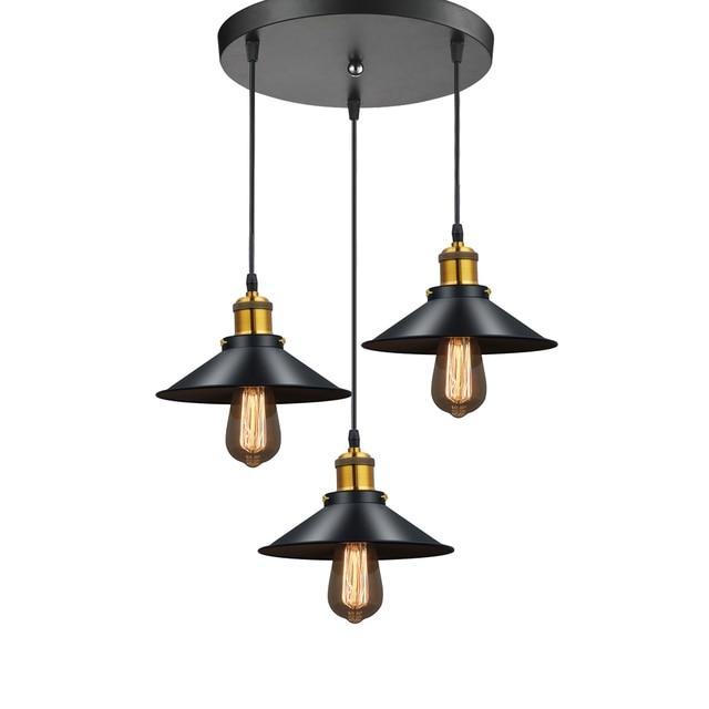 Moderne Led Anhanger Lampe Schwarz Metall Vintage Lichter Luminaria