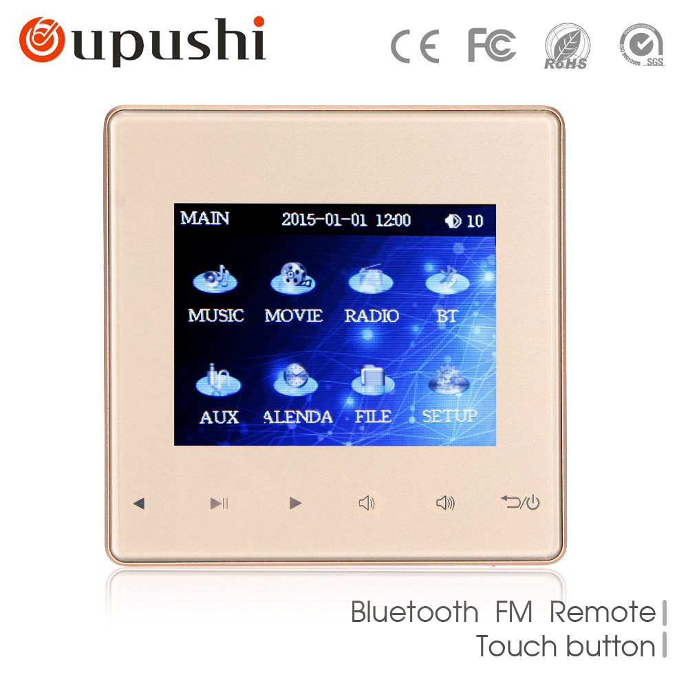 Home Audio visual in wall amplifiers FM SD AUX IN USB Music Player Bluetooth digital stereo