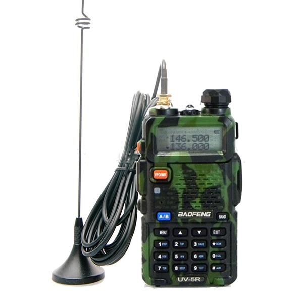 Dual Band Extendable Antenna UHF//VHF//FM SMA-Female for KENWOOD WOUXUN BAOFENG