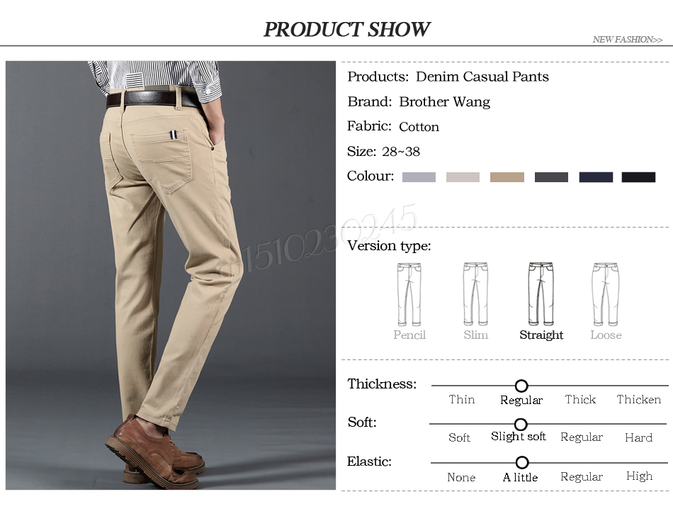 HTB1zs. avfsK1RjSszgq6yXzpXaS 6 Color Casual Pants Men 2019 Spring New Business Fashion Casual Elastic Straigh Trousers Male Brand Gray White Khaki Navy