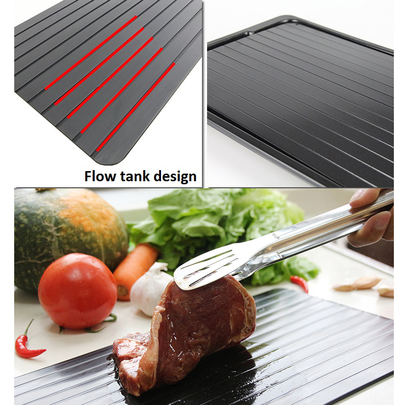 Hot Sale Fast Defrosting Tray Magic Metal Plate Defrosting Tray Safe Fast Thawing Frozen Meat Defrost Kitchen Tool Dropshipping