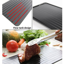 Hot Sale Fast Defrosting Tray Magic Metal Plate Defrosting Tray Safe Fast Thawing Frozen Meat Defrost Kitchen Tool Dropshipping(China)