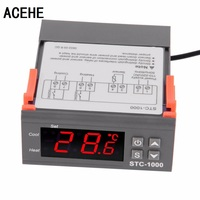 1pc High Quality Temperature Controller Thermostat Aquarium STC1000 Incubator Cold Chain Temp Wholesale Laboratories Temperature