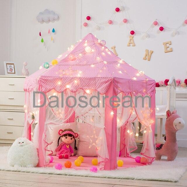 Great Dalosdream Princess Playhouse Princess Children Tent Cute Children Kids  Play Tent Indoor Kids Teepees For Children