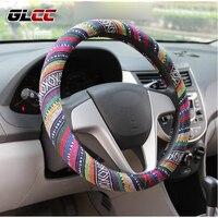 Universal 38cm 15 Car Auto Steering Wheel Cover Steering Wheel Wrap Natural Fibers Anti Slip Breathable
