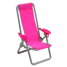 Foldable Deckchair Lounge Beach Chair Dollhouse Furniture Foldable Deckchair For Lovely Miniature For Dolls House Props(China)