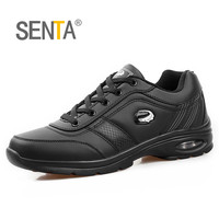 SENTA Autumn Winter Light Leather Running Shoes Men's Sneakers Outdoor Cushioning Jogging Walking Athletic Shoes Zapatillas Running Shoes     -