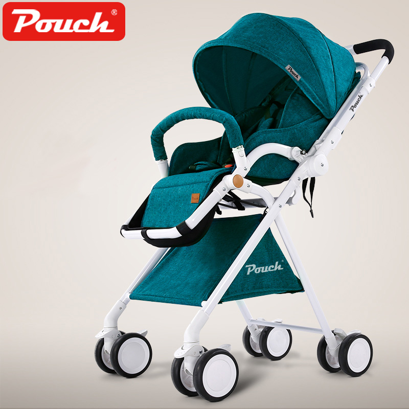 Fashion Bidirectional Baby Stroller, 5.7kg Light & Portable Children Umbrella Car, Can Sit & Lie Baby Carriag, Folding Pushchair europe no tax 2018 yoyaplus baby stroller lightweight folding umbrella car can sit can lie ultra light portable on the airplane