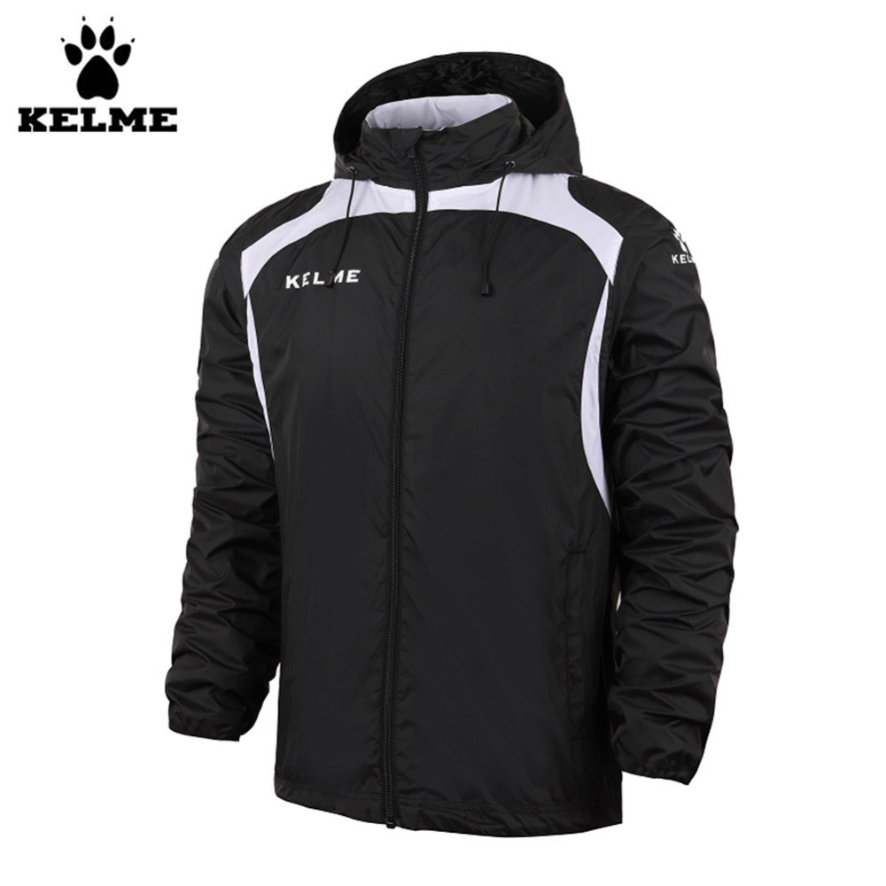 Kelme K15S605 Fall/Winter Men Hooded Sports Woven Wind Raincoats Jacket Black чернильный картридж epson t6922 cyan c13t692200