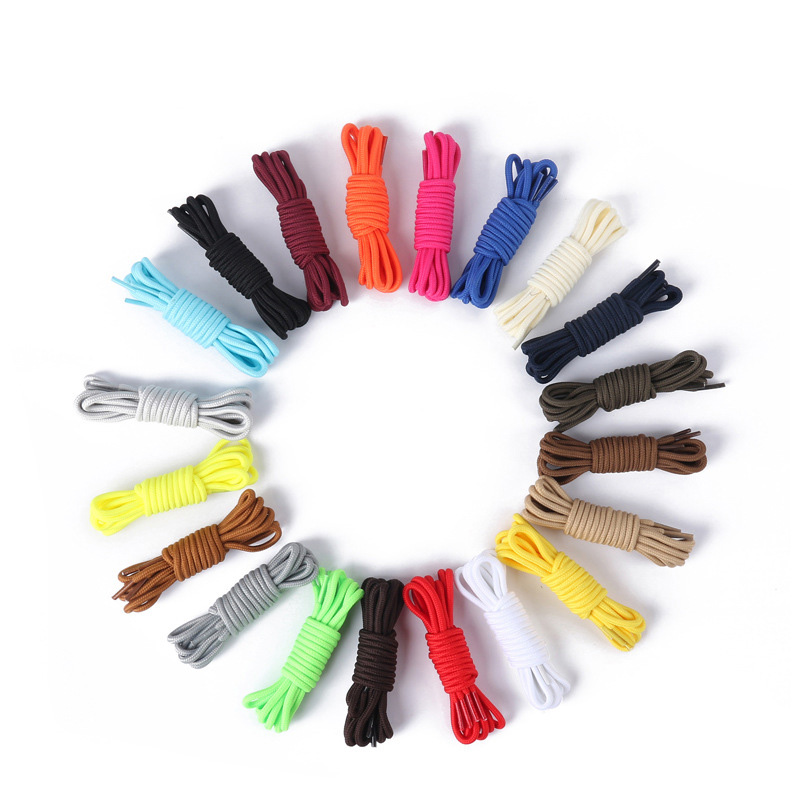1 Pair Round Shoelace 8 Colors Fashion 90cm 120cm Rope Shoelaces Round Casual Sneakers Shoelaces Skate Boot Shoe Laces Strings hot fashion customized colored rope lace round shoelace wholesale