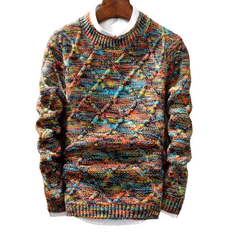 Drop Shipping Brand Sweater MenBrand Fashion Pullover Male O-Neck Stripe Slim Fit Knitting Fashion Sweaters Man Pullover