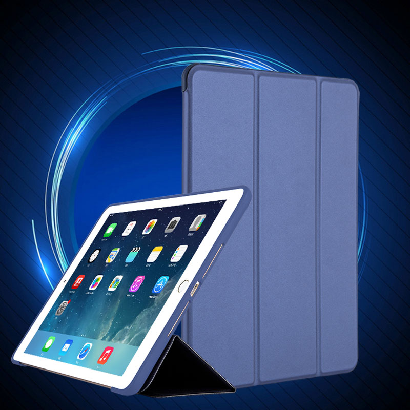 Case For New Ipad 2017 9.7 Inch PU Leather Front Cover+Soft TPU Silicone Bumper Shockproof Magnet Auto Sleep Smart Case