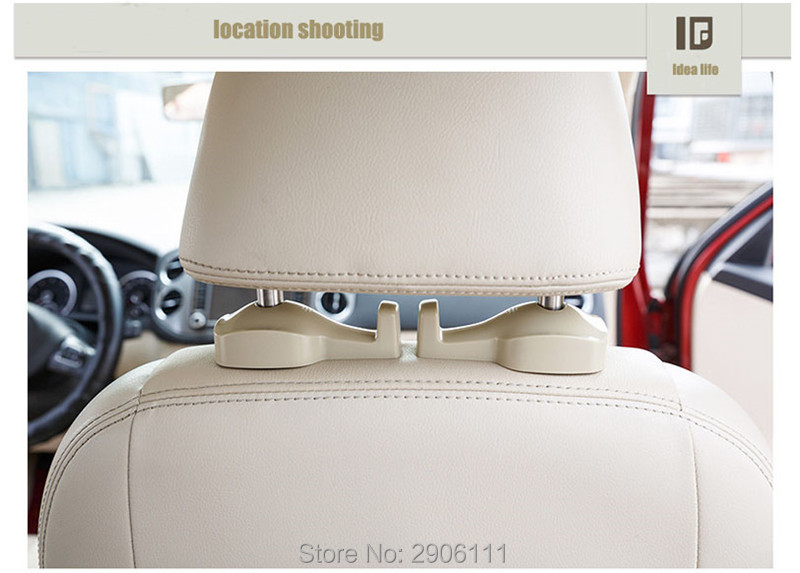 2PCS creative Auto Portable Seat hook Hanger for Land Rover discovery 2 3 4 freelander 1 2 defender a9 accessories car-styling